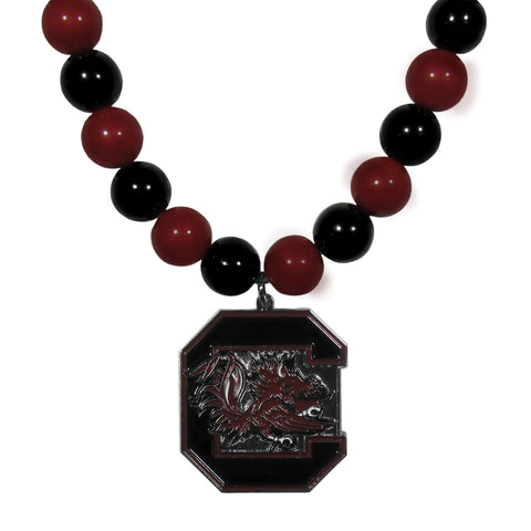 S. Carolina Gamecocks Fan Bead Necklace
