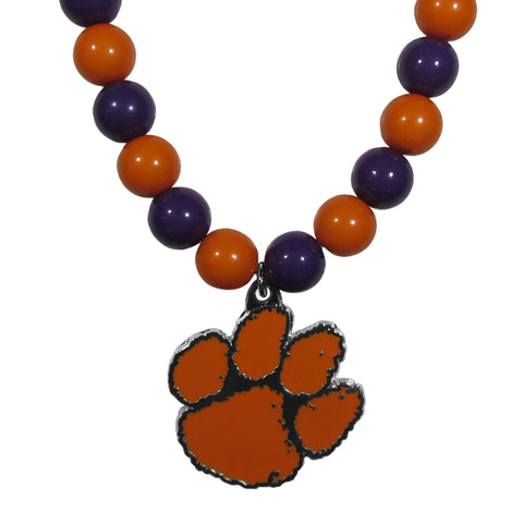 Clemson Tigers Fan Bead Necklace