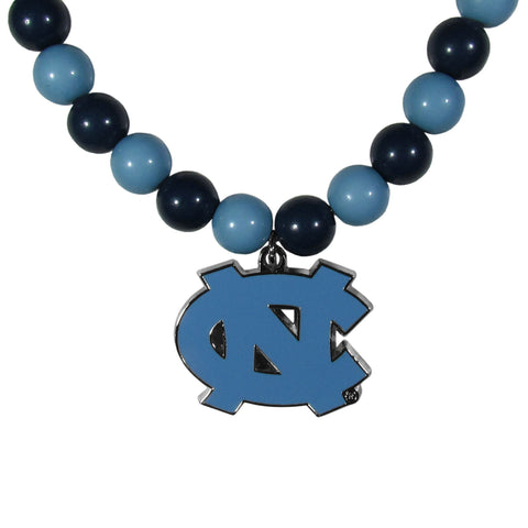 N. Carolina Tar Heels Fan Bead Necklace