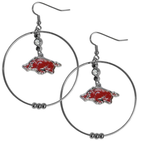 Arkansas Razorbacks 2 Inch Hoop Earrings