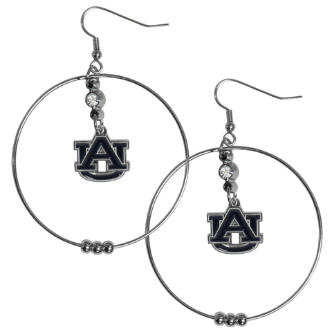 Auburn Tigers 2 Inch Hoop Earrings