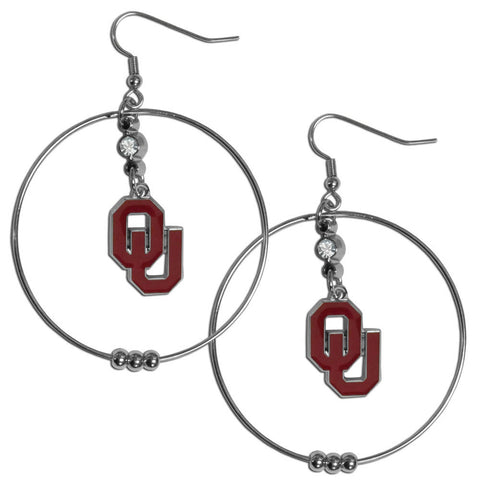 Oklahoma Sooners 2 Inch Hoop Earrings