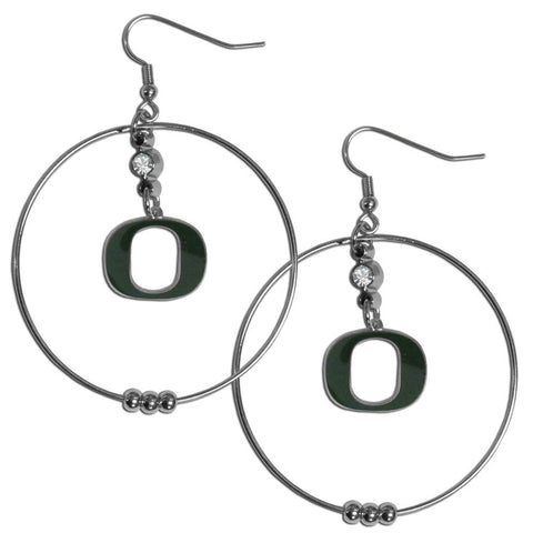 Oregon Ducks 2 Inch Hoop Earrings
