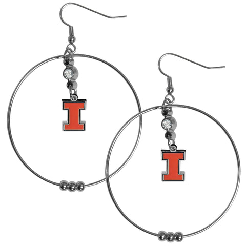 Illinois Fighting Illini 2 Inch Hoop Earrings