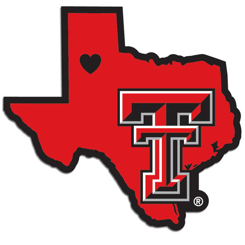 Texas Tech Raiders Home State Decal  In Stock