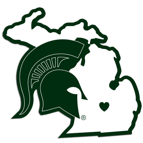 Michigan St. Spartans Home State Decal