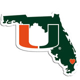 Miami Hurricanes Home State Decal