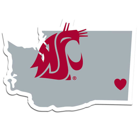 Washington St. Cougars Home State Decal