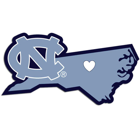 N. Carolina Tar Heels Home State Decal