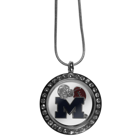 Michigan Wolverines Locket Necklace