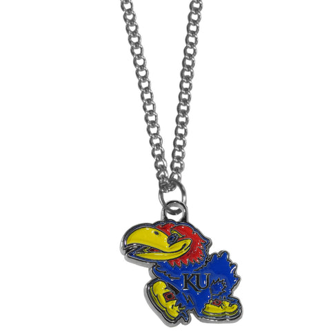 Kansas Jayhawks Chain Necklace with Small Charm