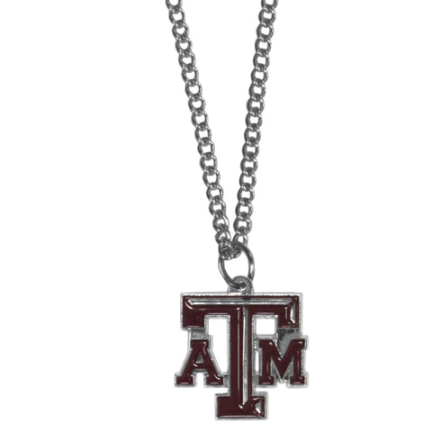 Texas A & M Aggies Chain Necklace with Small Charm