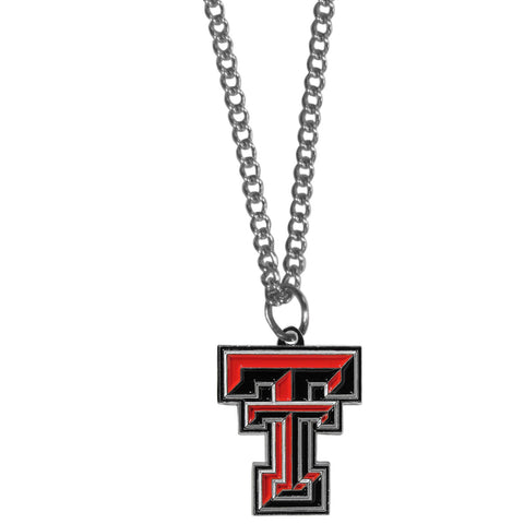 Texas Tech Raiders Chain Necklace with Small Charm