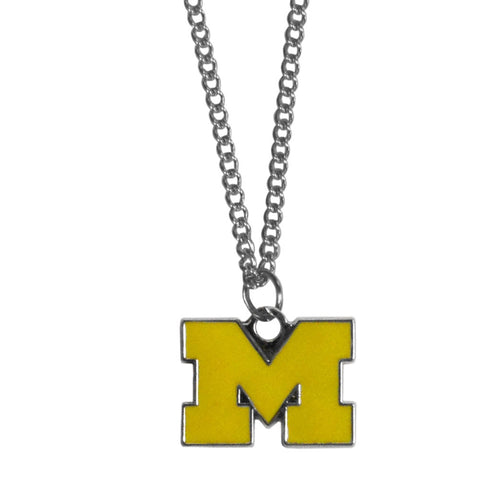 Michigan Wolverines Chain Necklace with Small Charm