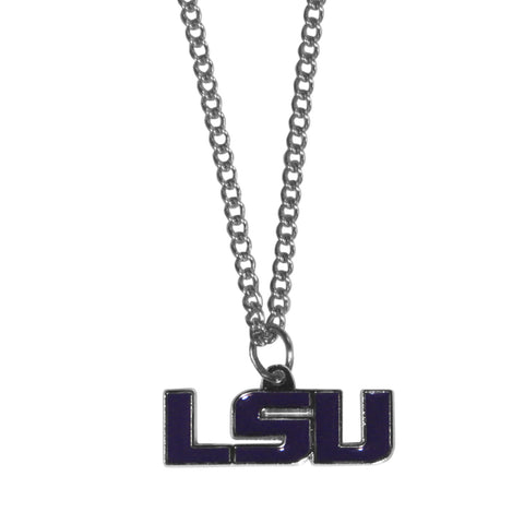 LSU Tigers Chain Necklace with Small Charm