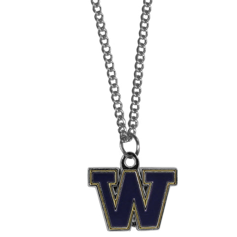 Washington Huskies Chain Necklace with Small Charm