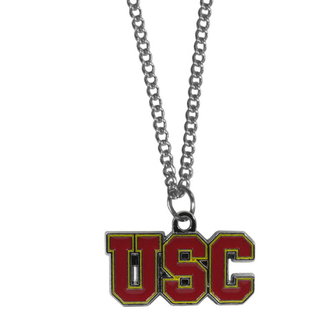 USC Trojans Chain Necklace with Small Charm