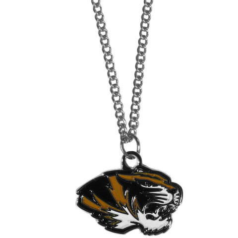 Missouri Tigers Chain Necklace with Small Charm