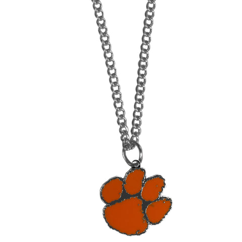Clemson Tigers Chain Necklace with Small Charm