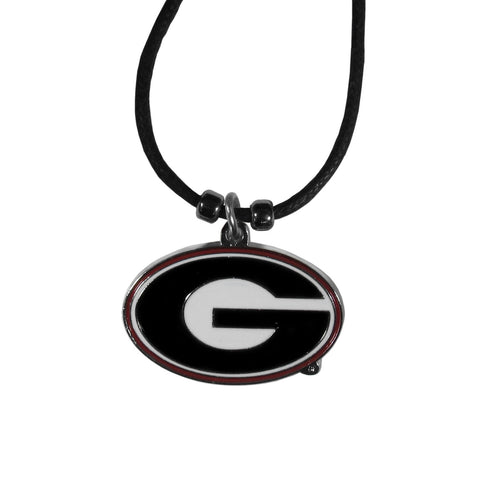 Georgia Bulldogs Cord Necklace