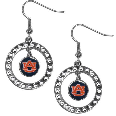 Auburn Tigers Rhinestone Hoop Earrings