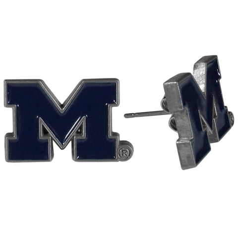 Michigan Wolverines Stud Earrings