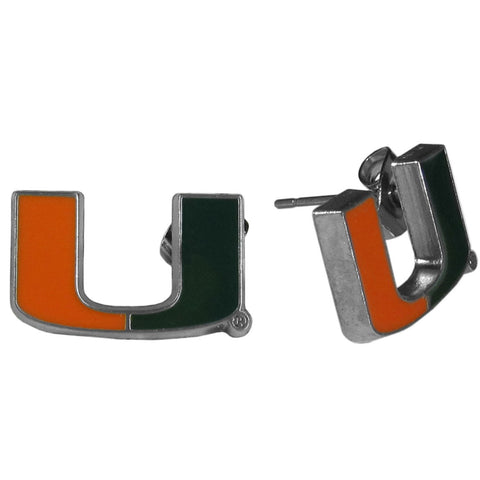 Miami Hurricanes Stud Earrings