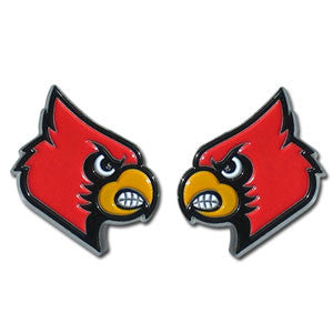 Louisville Cardinals Stud Earrings