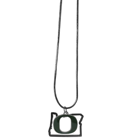 Oregon Ducks State Charm Necklace