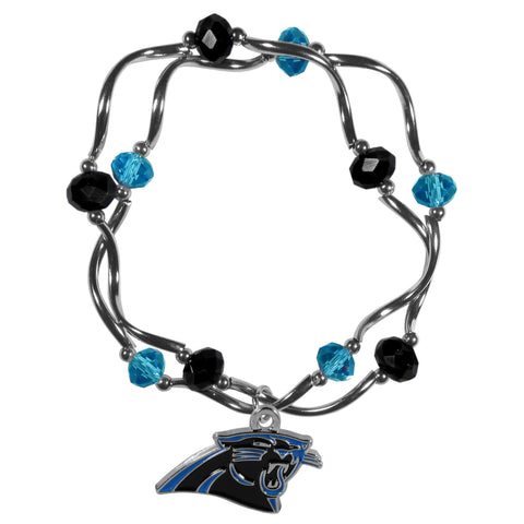 Carolina Panthers Crystal Bead Bracelet
