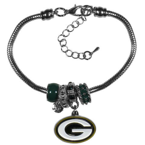 Green Bay Packers Euro Bead Bracelet