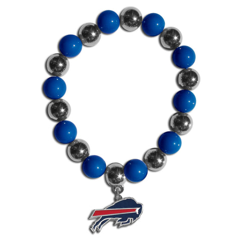 Buffalo Bills Chrome Bead Bracelet