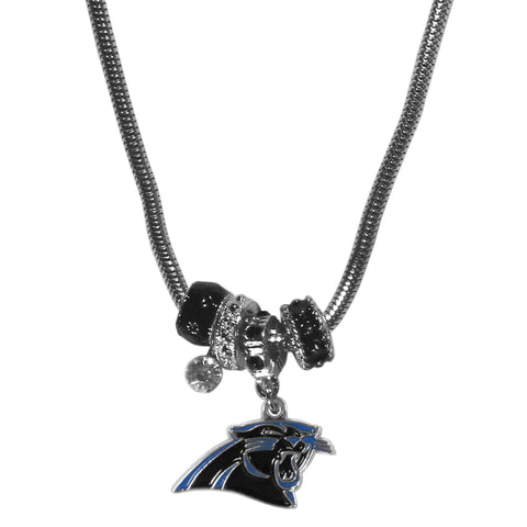 Carolina Panthers Euro Bead Necklace