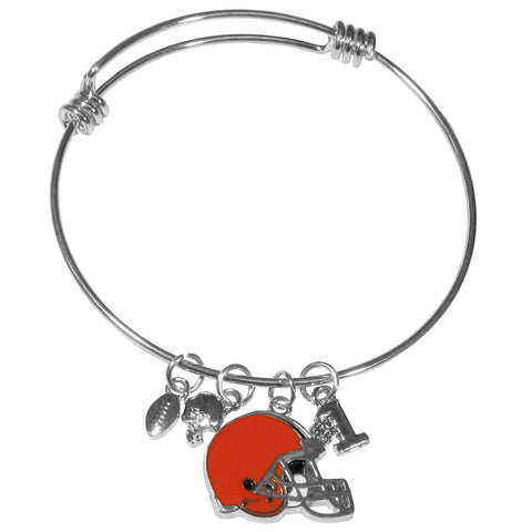 Cleveland Browns Charm Bangle Bracelet