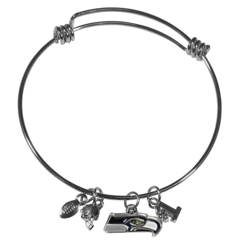 Seattle Seahawks Charm Bangle Bracelet