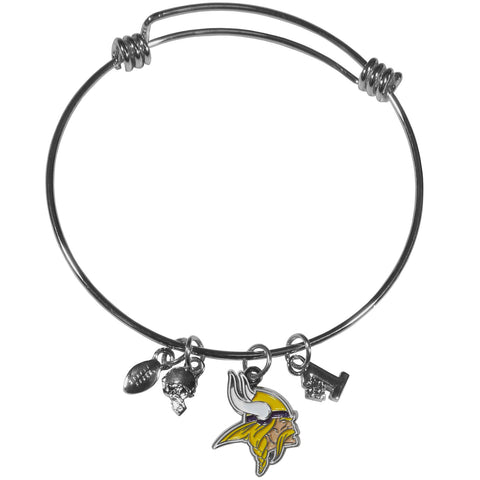 Minnesota Vikings Charm Bangle Bracelet