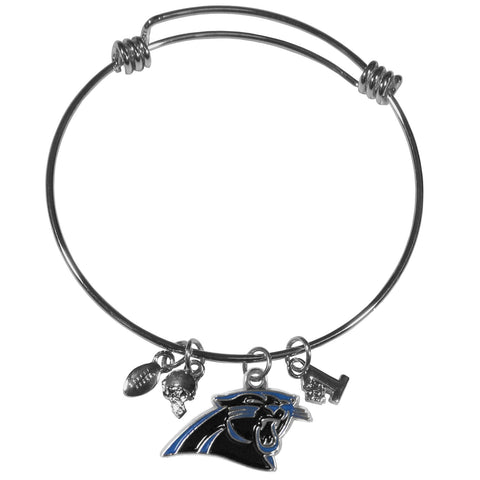 Carolina Panthers Charm Bangle Bracelet