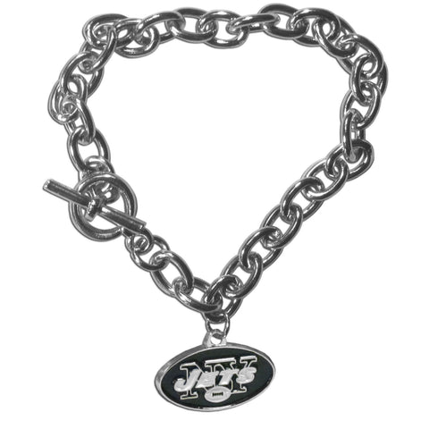 New York Jets Charm Chain Bracelet
