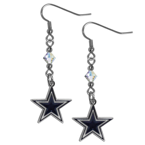 Dallas Cowboys Crystal Dangle Earrings