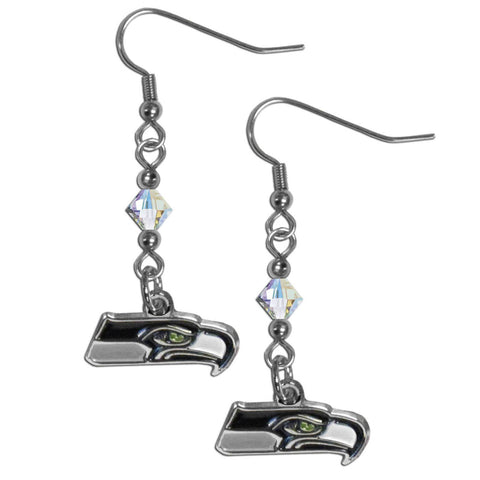 Seattle Seahawks Crystal Dangle Earrings