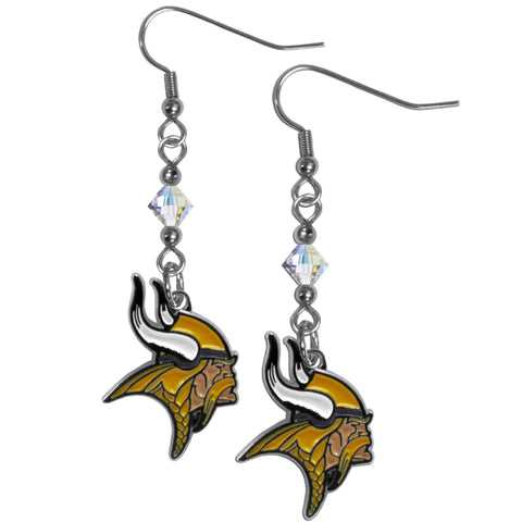 Minnesota Vikings Crystal Dangle Earrings