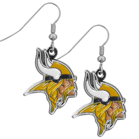 Minnesota Vikings Chrome Dangle Earrings