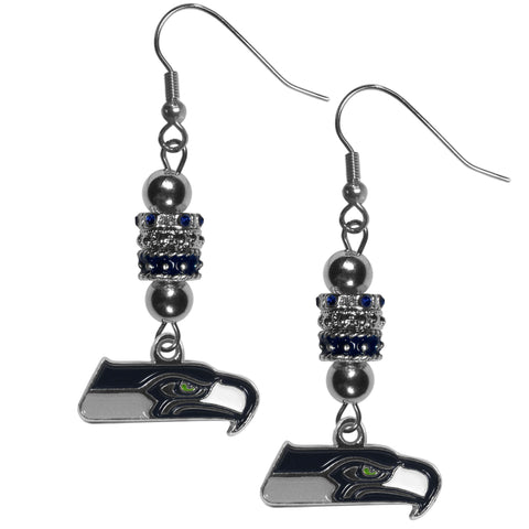 Seattle Seahawks Euro Bead Earrings
