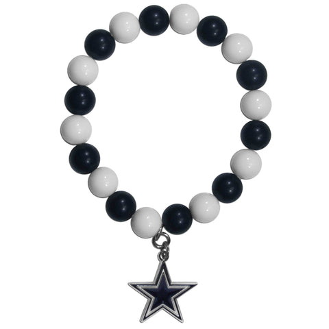 Dallas Cowboys Fan Bead Bracelet