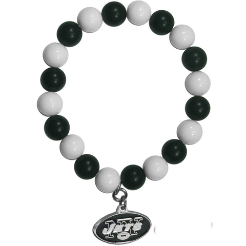New York Jets Fan Bead Bracelet