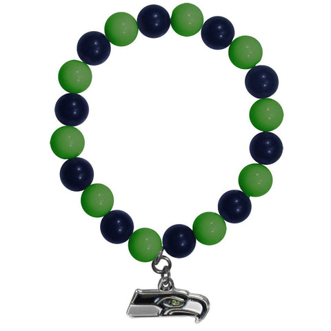 Seattle Seahawks Fan Bead Bracelet
