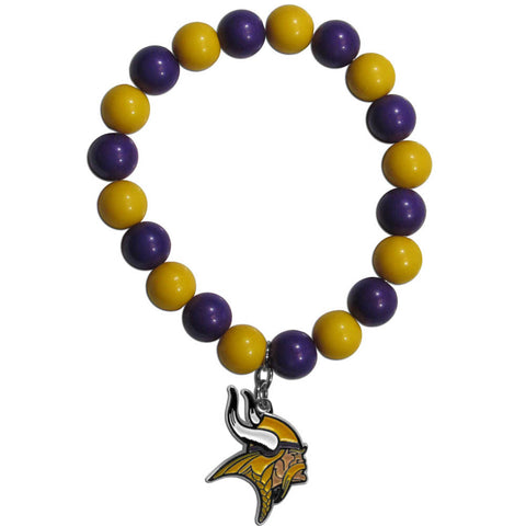 Minnesota Vikings Fan Bead Bracelet