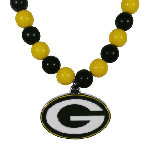 Green Bay Packers Fan Bead Necklace