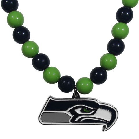 Seattle Seahawks Fan Bead Necklace