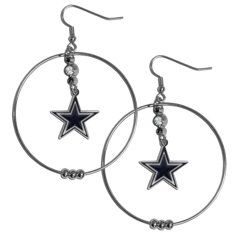 Dallas Cowboys 2 Inch Hoop Earrings
